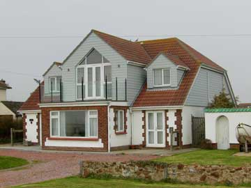 HardiePlank on a chalet style house in Clacton-on-Sea