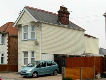 HardiePlank on a semi-detached house in Clacton-on-Sea