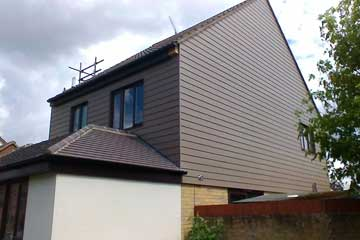 Photograph of HardiePlank in Monterray Taupe on a house in Brentwood, Essex