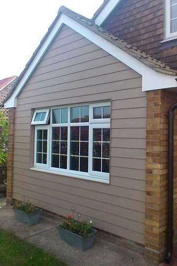 HardiePlank in Khaki Brown on a property in Jaywick