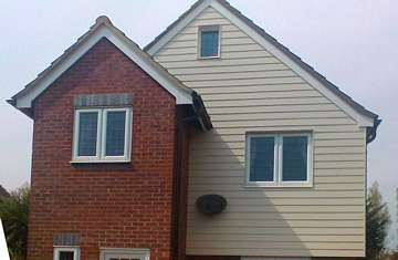 HardiePlank in Sailcloth on a detached house in Clacton-on-Sea