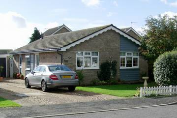 Photograph of K-Wave white decorative bargeboards on a bungalow in Kirby Cross
